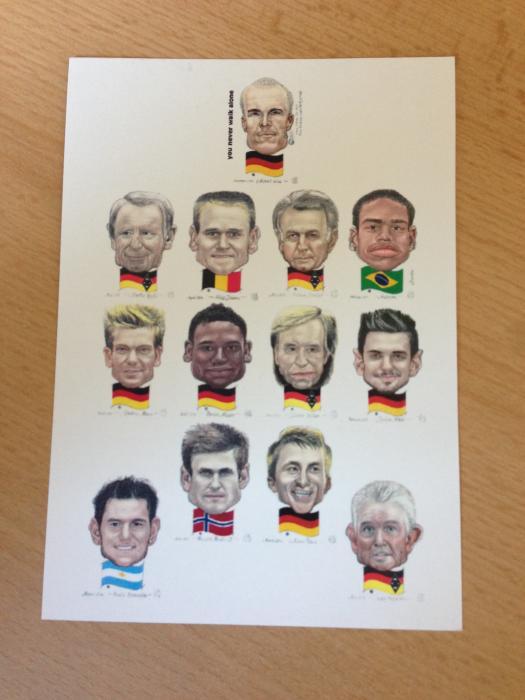 Karikatur Borussia-Elf