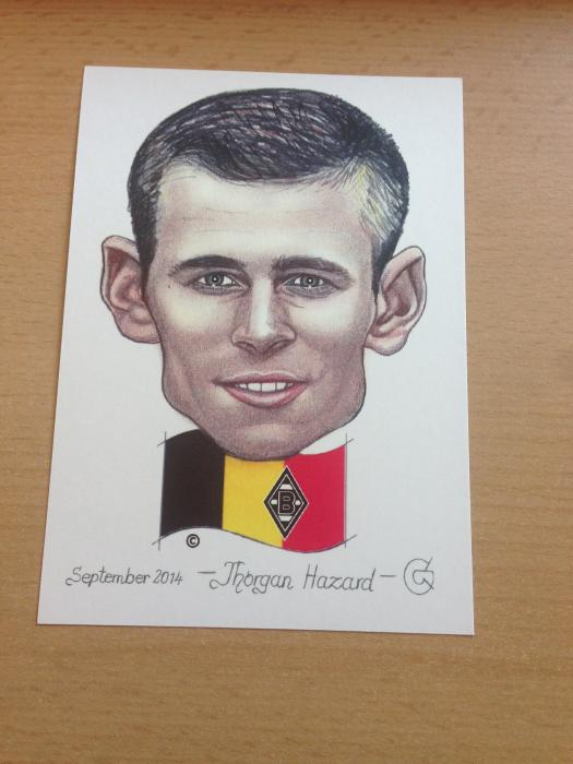 Karikatur Thorgan Hazard